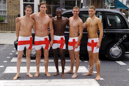 Editorial photo of Mr England finalists, London, Britain - 12 Jul 2011