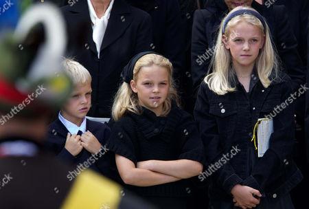 Karoly-Konstantin, Ildiko and Zsofia, children of Archduke Georg von Habsburg