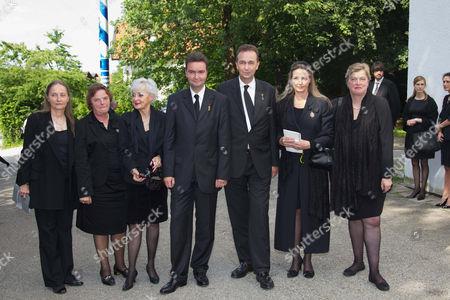 Archduchess Monika von Habsburg, Andrea Marie Countess von Neipperg, Michaela Maria Countess von Kageneck, Archduke Georg von Habsburg, Archduke Karl von Habsburg, Archduchess Gabriela von Habsburg, Archduchess Walburga von Habsburg