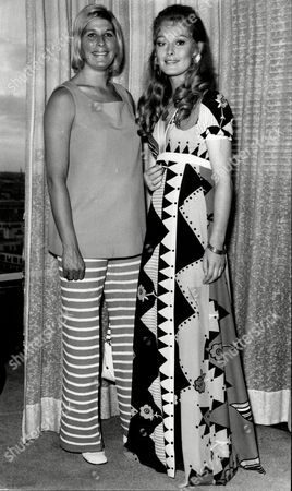 Jenny Hanley And Mary Rand At Film Premiere 'the Games' - 1970