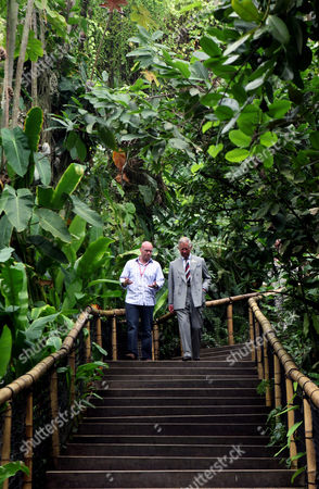 Don Murray, head of horticulture, and Prince Charles in the Tropical Biome