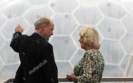 Stock Image of Tim Smit, Chief Executive and co-founder of the Eden Project, with Camilla Duchess of Cornwall