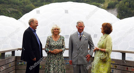 Tim Smit, Chief Executive and co-founder of the Eden Project, Camilla Duchess of Cornwall, Prince Charles and Gaynor Coley, Managing Director