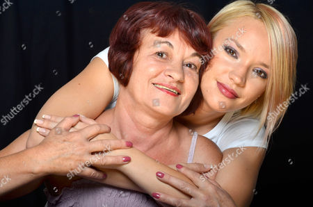 Stock Photo of Aura Pohoata and mother