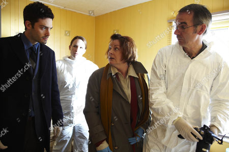 David Leon as Sergeant Joe Ashworth, Brenda Blethyn as DCI Vera Stanhope and Paul Ritter as Pathologist Billy Cartwright.