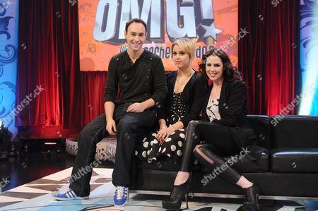 Stock Photo of Aled Haydn Jones, Peaches Geldof and Emma Kenny