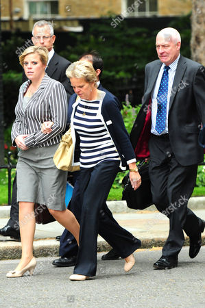 Gemma, Sally and Bob Dowler arriving in Downing Street