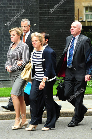 Brian Paddick with Gemma, Sally and Bob Dowler arriving in Downing Street