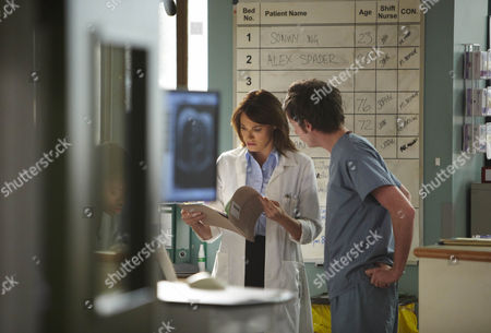 Sarah Parish as Jenny Bremner and Andrew Gower as Mullery.