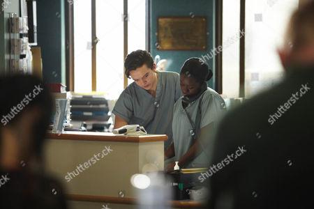 Luke Allen-Gale as Springer and Michelle Asante as Kitty Wilson.