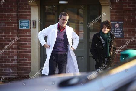 James Nesbitt as Gabriel Monroe and Perry Millward as Nick Monroe.