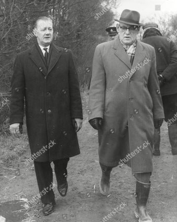 Det. Supt. James Axon (left) Of Scotland Yard's Murder Squad With Supt. Talbot At The Scene Of The Murder Of Seven-year-old Kim Roberts.