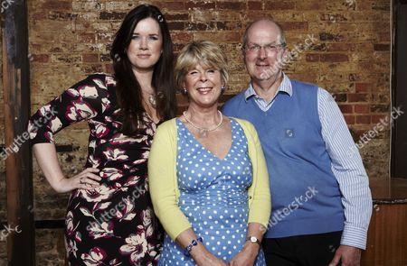 Caroline Redman Lusher, Isobel Martin and Chris Martin