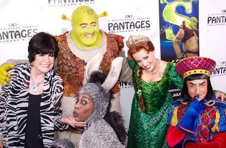 Jo Anne Worley, actor Eric Petersen as Shrek and actress Haven Burton as Princess Fiona