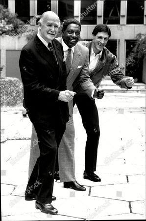(l-r) Former Athletes Lord Porritt Bob Hayes And Allan Wells.