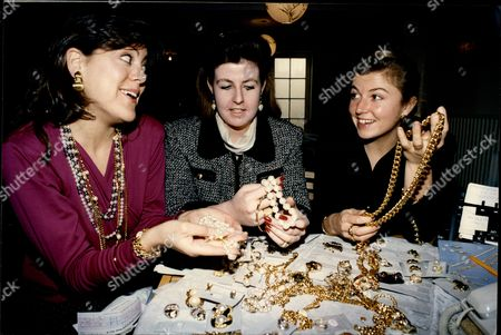 Daily Mail Reporter Anna Pasternak (left) Goes On The Big Junk Jewellery Sell.