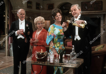 Richard Vernon as Sir Lionel Hibury, June Whitfield as Lady Maud Hibury, Dawn Addams as Rosie Butterfield and David Tomlinson as Sir John Holt