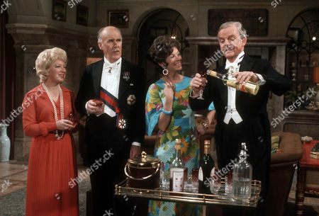 June Whitfield as Lady Maud Hibury, Richard Vernon as Sir Lionel Hibury, Dawn Addams as Rosie Butterfield and David Tomlinson as Sir John Holt
