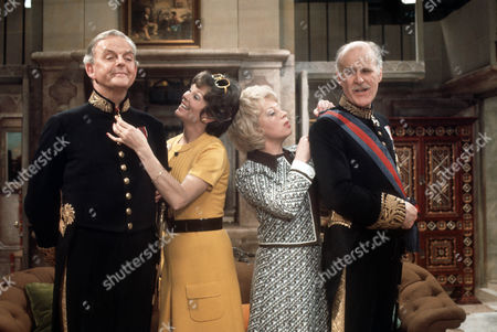 David Tomlinson as Sir John Holt, Dawn Addams as Rosie Butterfield, June Whitfield as Lady Maud Hibury and Richard Vernon as Sir Lionel Hibury