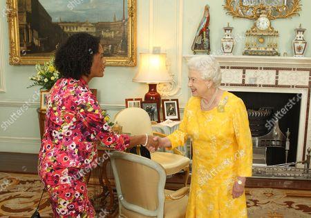Stock Image of Aminatta Forna and Queen Elizabeth II