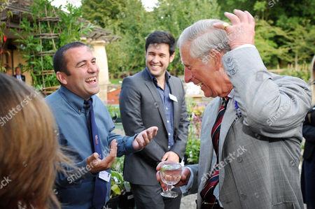 Chris Collins, James Wong and Prince Charles
