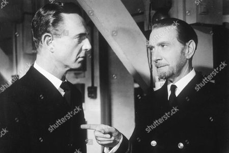 Stock Image of CLIFTON WEBB ( RIGHT) IN THE FILM '' THE MAN WHO NEVER WAS ''