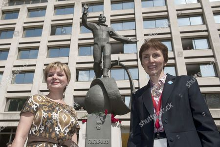 Stock Picture of Elena Gagarina and British astronaut Helen Sharman