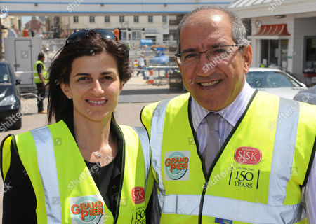 Stock Photo of The Driving Force Behind The New Weston Super Mare Pier Owners.brother And Sister Kerry And Michelle Michaels.