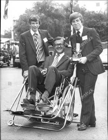 Young Engineers For Britain 1981. Schoolboys John Freeman And Ingram Legge With Mp Kenneth Baker In Their Wheelchair.