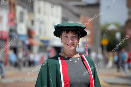 Editorial image of Claire Curtis-Thomas receiving an honorary fellowship degree from Swansea Metropolitan University at the Grand Theatre in Swansea, south Wales, Britain - 13 Jul 2011