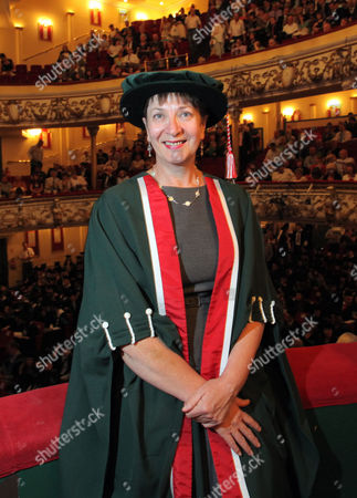 Editorial photo of Claire Curtis-Thomas receiving an honorary fellowship degree from Swansea Metropolitan University at the Grand Theatre in Swansea, south Wales, Britain - 13 Jul 2011