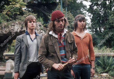Stock Picture of John Moulder Brown as Jan, Ben Bazell as Dave and Len Jones as Les