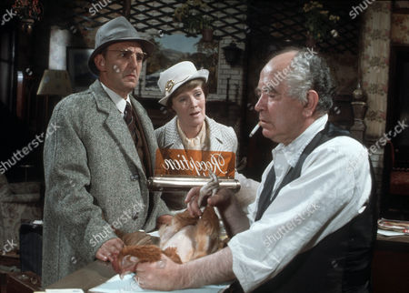 Stephen Murray as Mr Angusthorpe, Rachel Kempson as Mrs Angusthorpe and Liam Redmond as Doyle