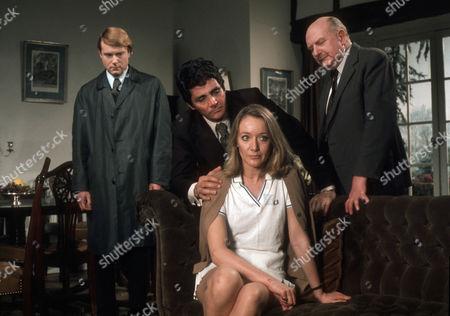 Michael Bangerter as Sergeant Foulkes, David Hedison as Edmund Hardy, Jennifer Hilary as Betty Hardy and Lockwood West as Inspector Dowson