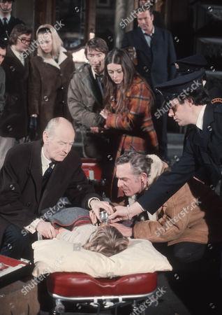 Stock Picture of John Carlisle as Colin Walker, Wendy Allnutt as Janet Walker, John Welsh as Dr Hewitson, Simon Henderson as Mark Walker and Tom Criddle as Dr Foy