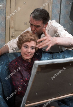 Stock Photo of Betty Alberge as Marge and Freddie Jones as Wilfred Eames