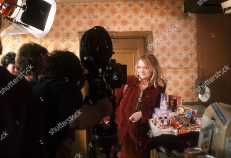 Behind the scenes filming camera crew Mary Healey as Bella