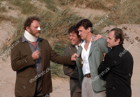 Pat Roach as Gerry Quaid, Peter Faulkner as Follett, Peter Howitt as Eddie Baker and Tim Dantay as Carberry