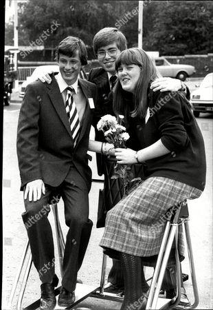 Young Engineers For Britain 81. L-r: Ingram Legge John Freeman And Jacqy Barber Girlfriend Of Ingram Legge.