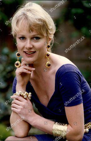Editorial image of Model Cheryl Hersch Wearing Costume Jewellery.