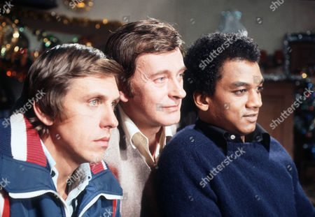 Stock Picture of David Roper as Martyn Ainsworth, Barrie Ingham as Frank Forrest and Jeffery Kissoon as Peter Gold