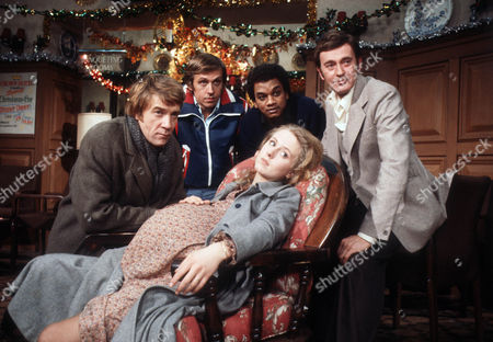 Stock Image of Bryan Marshall as Joe, David Roper as Martyn Ainsworth, Jeffery Kissoon as Peter Gold, Barrie Ingham as Frank Forrest and Cathryn Harrison as Mary