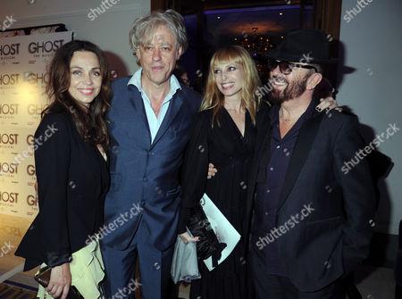 Jeanne Marine, Bob Geldof, Anoushka Fisz and Dave Stewart
