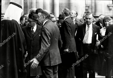 Editorial image of Arab League Delegation Meeting At The Foreign Office. Francis Pym (side On To Camera).