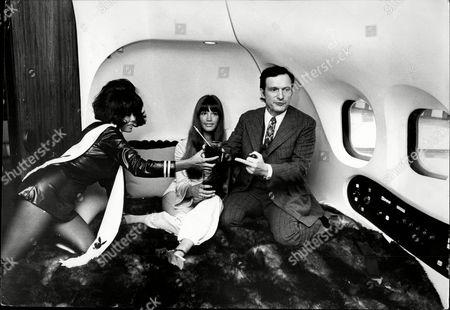 Hugh Marston Hefner (born April 9 1926) Is An American Magazine Publisher Founder And Chief Creative Officer Of Playboy Enterprises - 1970 Shows: Hugh Hefner With His Girlfriend Barbi Benton