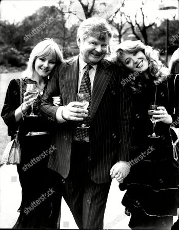 Editorial image of Benny Hill With Sue Upton (left) And Trudy Miller At Thames Tv Party.