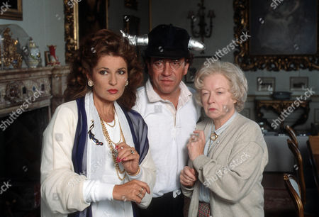 Stephanie Beacham as Mrs Peacock, Robin Nedwell as Reverend Green and June Whitfield as Mrs White