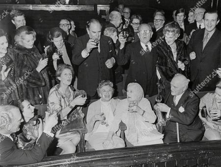 Actress Gladys Cooper 80 Today At St Martins Theatre With Family And Friends.