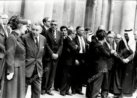 Prime Minister Margaret Thatcher And Francis Pym At The Foreign Office Where The Arab Delegation Were Meeting.