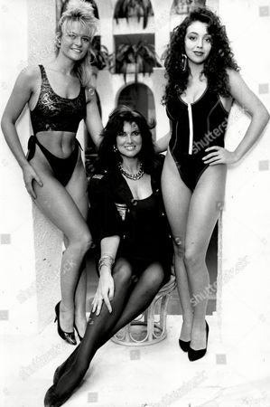Lambs Navy Rum Calender Girls. (l-r) Helen Steed And Gloria Jones With Caroline Munroe (centre).